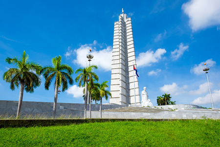 geen: The Jose Marti memorial monument at the Revolution Square in Havana