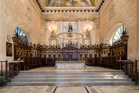 liturgical: The altar at the Cathedral of Havana in Cuba