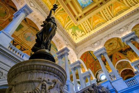 congress: Interior of the Library of Congress in Washington D.C.