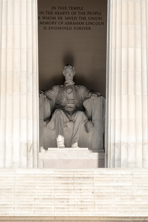 lincoln memorial: Detail of the Lincoln Memorial at  Washington D.C.