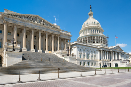 representatives: The US House of Representatives and the Capitol building dome in Washington D.C.