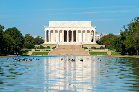 The Lincoln Memorial and the Reflecting Pool in Washington DC