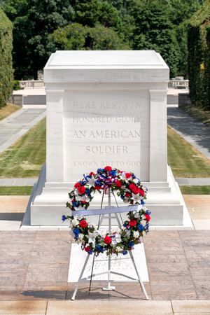 The Tomb of the Unknown Soldier at Arlington National Cemetery near Washington D.C.