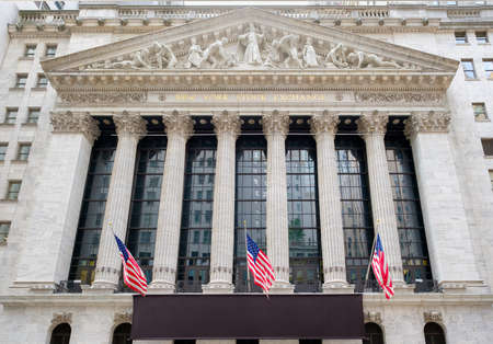 The New York Stock Exchange building at Wall Street in New York City Editorial