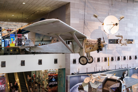 monoplane: The Spirit of St. Louis at the National Air and Space Museum in Washington D.C.