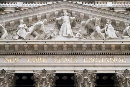 Détail du bâtiment de la Bourse de New York