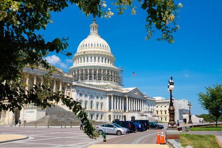 The United States Capitol in Washington D.C. Stock Photo