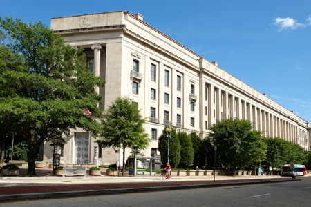 The United States Department of Justice in Washington D.C.