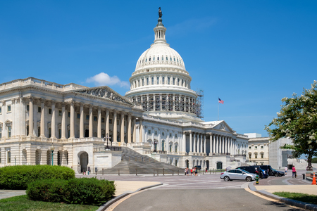 legislative: The United States Capitol building in Washington D.C. Stock Photo