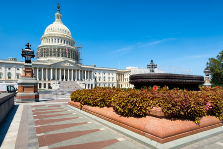 The United States Capitol building in Washington D.C. Stock Photo