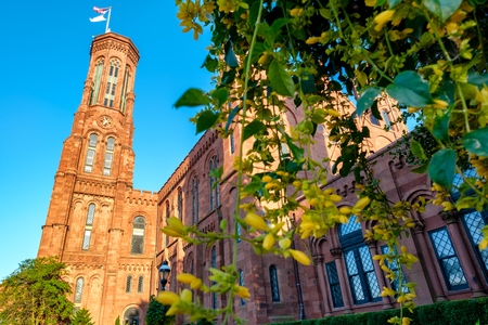 The Smithsonian Institution Building at the National Mall in Washington D.C.