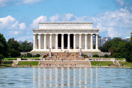 The Lincoln Memorial and the Reflecting Pool in Washington D.C.