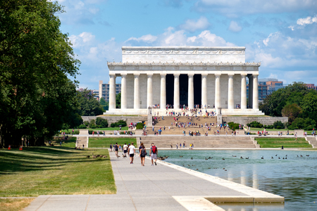 abraham: The Lincoln Memorial and the Reflecting Pool in Washington D.C.