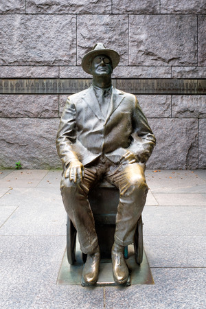 Detail of the Franklin Delano Roosevelt Memorial in Washington D.C.