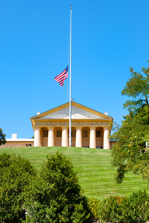 Arlington House at the Arlington National Cemetery, once the home of Confederate General Robert E. Lee Editorial