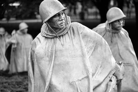 Detail of the Korean War Veterans Memorial in Washington D.C.