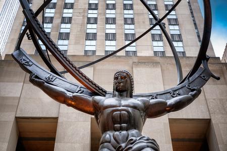 artdeco: The Statue of Atlas holding the celestial spheres in New York Citys Fifth Avenue