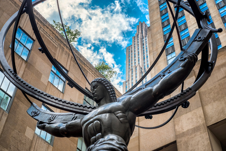 fifth: The Statue of Atlas holding the celestial spheres in New York Citys Fifth Avenue