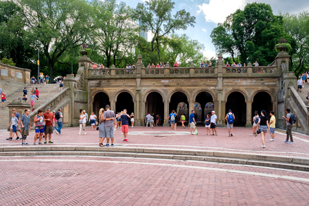 bethesda: The Bethesda Terrace at Central Park in New York City Editorial