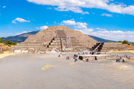 archaeological sites: The Pyramid of the Moon and the Plaza of the Moon at Teotihuacan, a major archaeological site near Mexico City