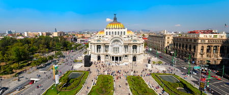 Panoramic view of the Palacio de Bellas Artes , the Alameda Central and the Historic Center of Mexico City Редакционное