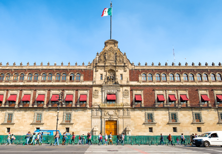 The National Palace next to the Zocalo in Mexico City Редакционное
