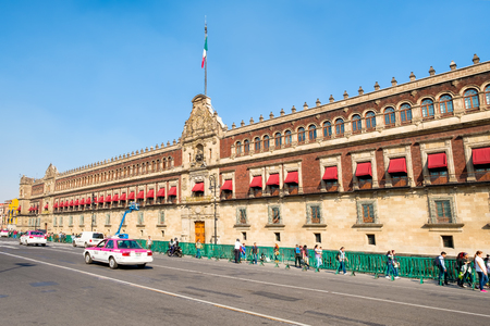 center city: The National Palace next to the Zocalo in Mexico City Editorial