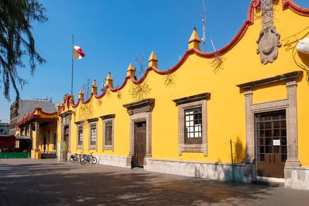식민지 시대의 타운 홀 궁전 멕시코 시티의 Coyoacan에 스톡 콘텐츠