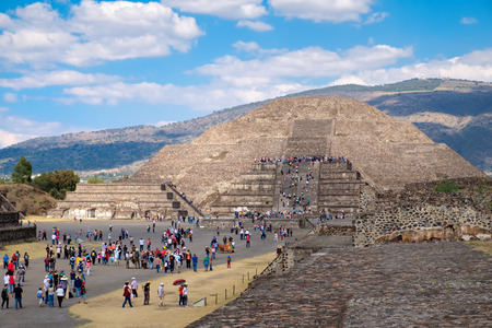 patrimony: The Pyramid of the Moon   at Teotihuacan, a major archaelogical site near Mexico City Stock Photo