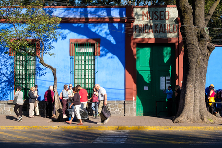 The Frida Kahlo Museum also known as The Blue House at Coyoacan in Mexico City