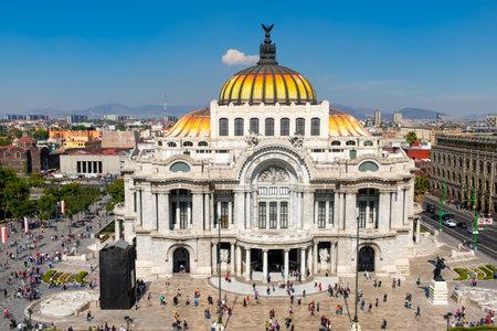 fine arts: Palacio de Bellas Artes or Palace of Fine Arts at the historic center of Mexico City Editorial