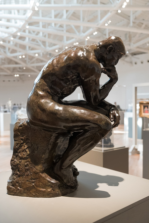 The Thinker by Auguste Rodin at the Soumaya museum of art in Mexico City