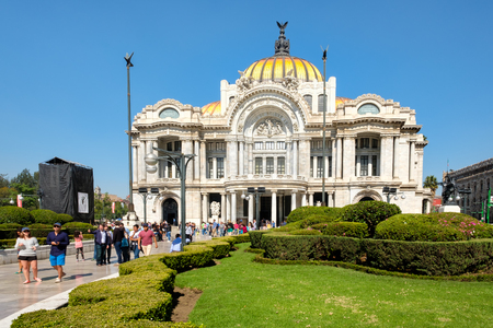 The Palacio de Bellas Artes or Palace of Fine Arts, a famous concert venue, museum and theater in Mexico City