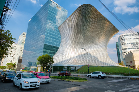 The modern Soumaya museum of art in Mexico City Editorial