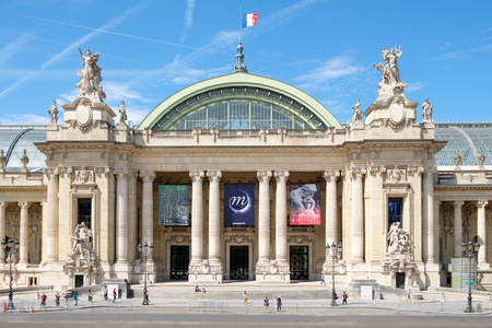 The Grand Palais in Paris on a sunny summer day