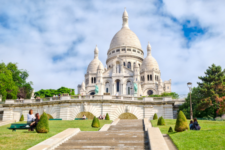 The Sacre Coeur Basilica in Montmartre, Paris Stock Photo