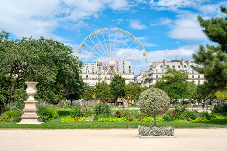 The Tuileries Garden on a beautiful summer day in Paris