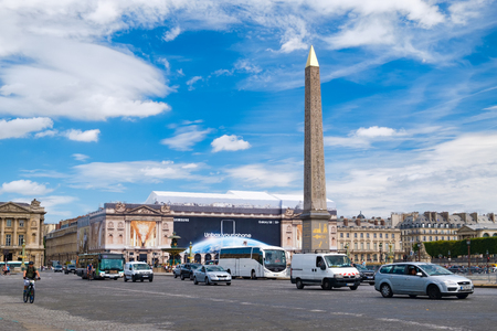 The Place de la Concorde and the Luxor Obelisk on a summer day in Paris