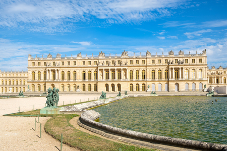 The royal Palace of Versailles near Paris on a sunny summer day Editorial