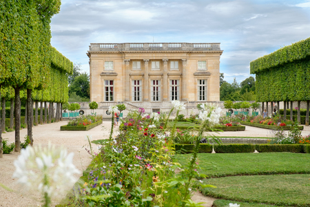 The Petit Trianon chateau on the grounds of the Palace of Versailles near Paris Editorial