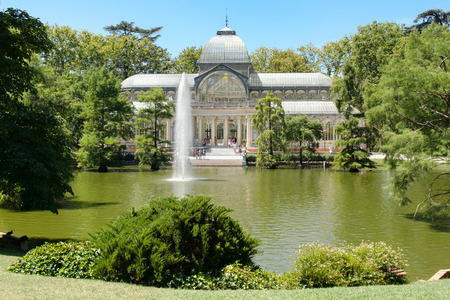 The Crystal Palace at  Buen Retiro Park in Madrid