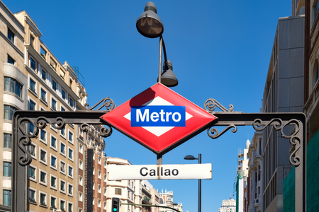 The Callao subway station at Gran Via in Madrid