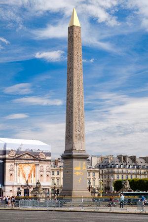 Place de la Concorde on a summer day in Paris Editorial