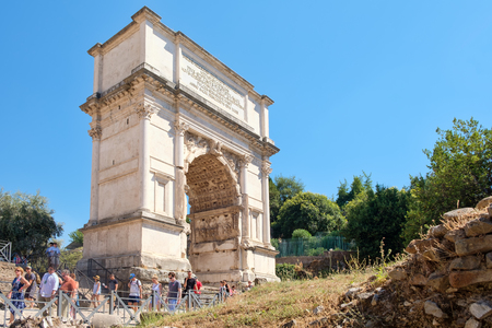 The Arch of Titus on the ancient Roman Forum Editorial
