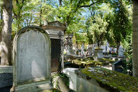 Pere Lachaise cemetery in Paris Editorial