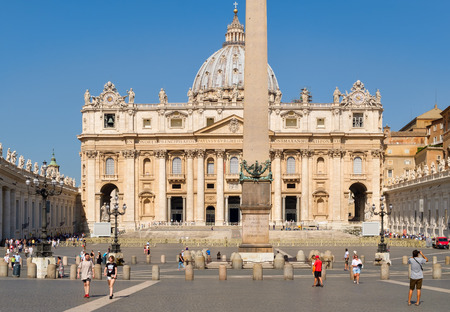 The Basilica of Saint Peter at the Vatican on a sunny summer day Editorial