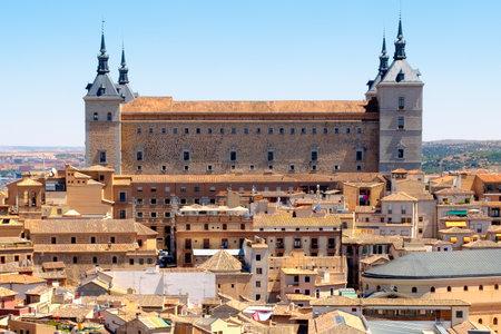 The historic building of the Alcazar of Toledo in Spain
