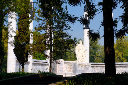 The Heroic Cadets Memorial at Chapultepec Park in Mexico City Редакционное