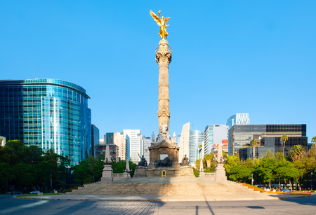 The Angel of Independence at Paseo de la Reforma, a worldwide known symbol of Mexico City