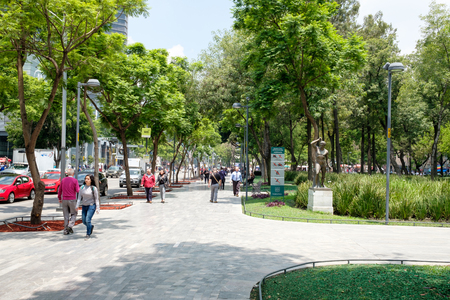 The famous Alameda Central park in the historical center of Mexico City Редакционное